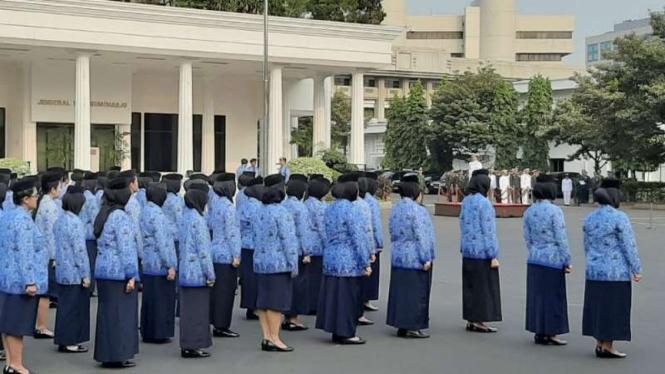 Upacara Peringatan Hari Sumpah Pemuda di Kementerian Pertahanan.