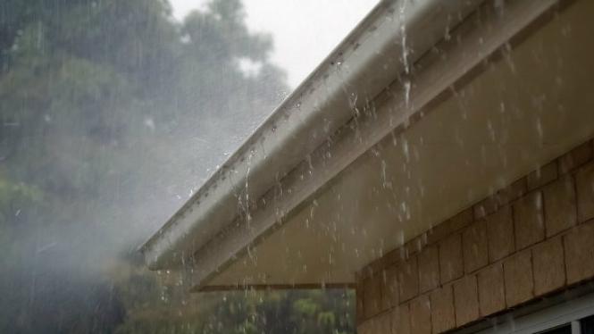 Ilustrasi rumah musim hujan