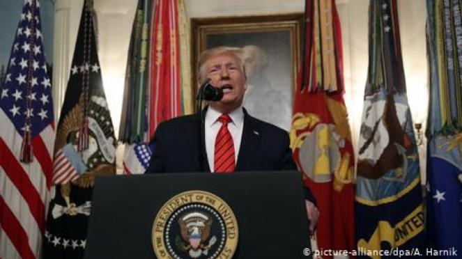 Presiden AS Donald Trump. (picture-alliance/dpa/A. Harnik)