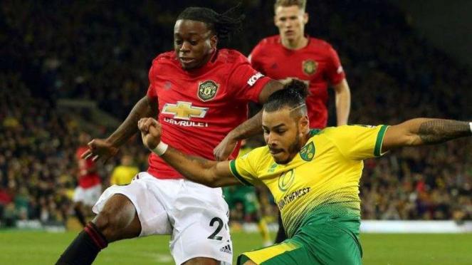 Laga Premier League 2019/2020 antara Norwich City kontra Manchester United