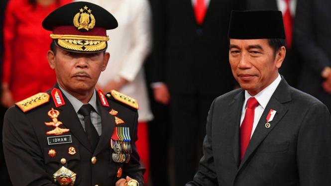 Jenderal Idham Azis dilantik Presiden Jokowi sebagai Kapolri.