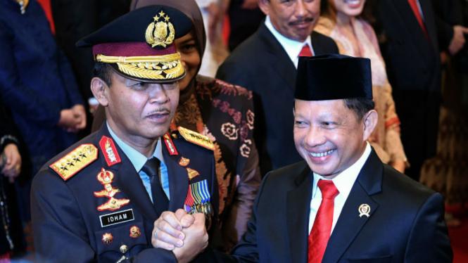 Kapolri Jenderal Idham Azis bersama Mendagri Tito Karnavian