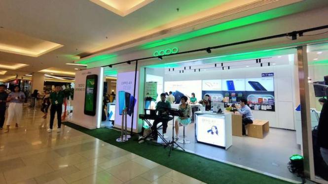Oppo Store di Kota Kasablanka, Jakarta Selatan.