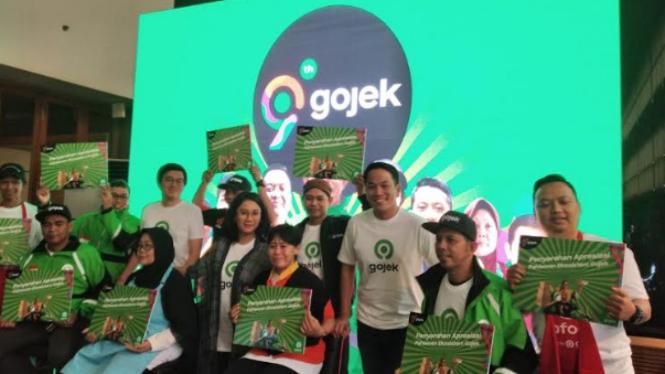 Konferensi pers perayaan ultah ke-9 Gojek.