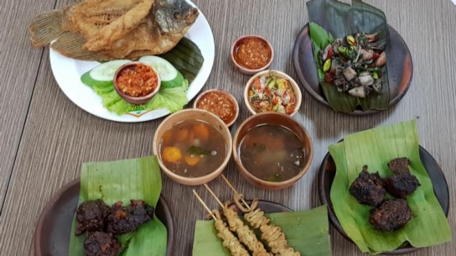 Menu hidangan di Bensunda.