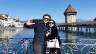 Syahrini dan Reino saat liburan ke Luzern, Swiss