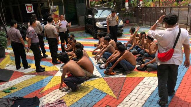 Polisi amankan kumpulan preman. (Foto ilustrasi).
