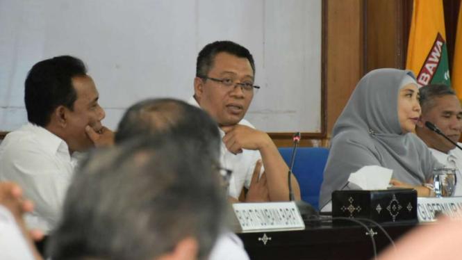 Pertemuan Gubernur NTB Zulkieflimansyah.