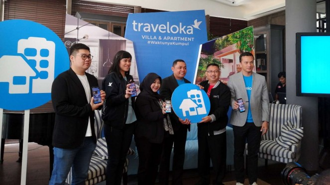 Acara konferensi pers Traveloka villa and apartment