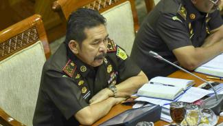 Jaksa Agung ST Burhanuddin saat raker dengan Komisi III DPR