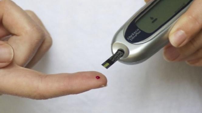 Ilustrasi tes gula darah.