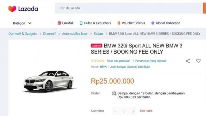 Beli sedan BMW bisa di platform digital