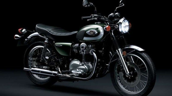 Kawasaki W800 baru yang dijual di Indonesia
