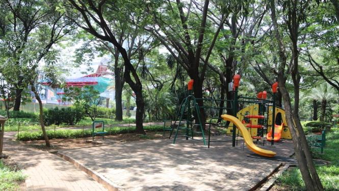 Ilustrasi taman.