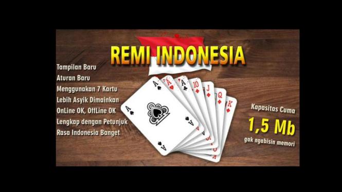 Tangkapan layar aplikasi Remi Indonesia