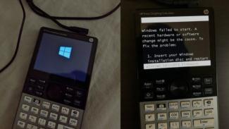Kalkulator menjalankan sistem operasi Windows 10 IoT
