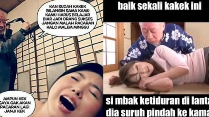 Meme kakek legend.