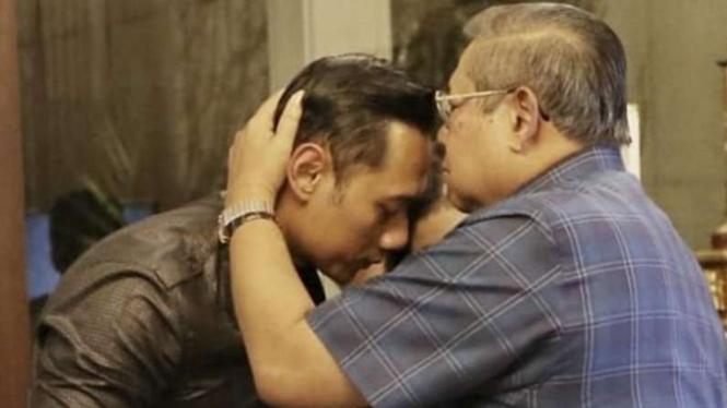 Agus Harimurti dan Susilo Bambang Yudhoyono