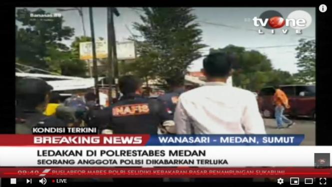 Bom meledak di Medan Rabu 13 November 2019. Laporan tvOne.