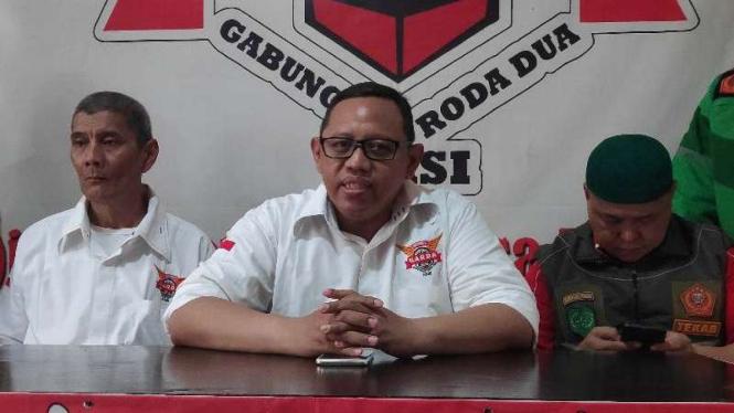 Ketua Presidium Nasional Gabungan Aksi Roda Dua (Garda), Igun Wicaksono.