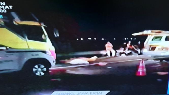 Kecelakaan di tol Cipali KM 117