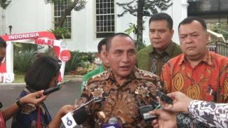Gubernur Sumatera Utara Edy Rahmayadi di Kompleks Istana Kepresidenan, Jakarta, Kamis 14 November 2019.