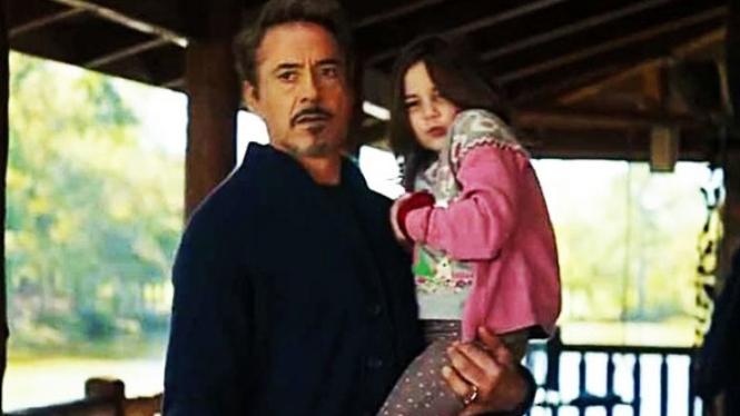 Tony dan Morgan Stark dalam film Avengers: Endgame