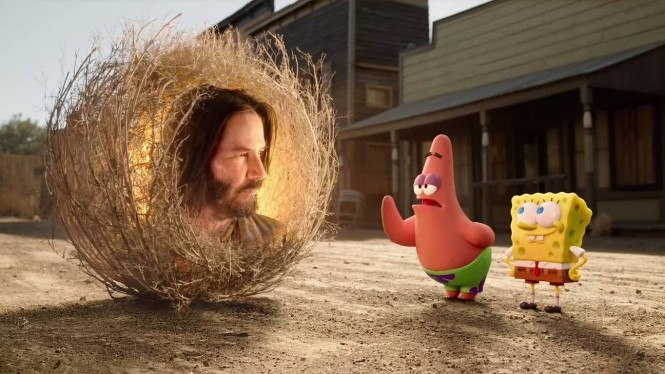 Keanu Reeves di SpongeBob Movie.