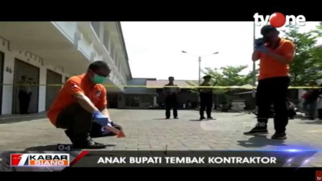 Tempat kejadian perkara anak bupati Majalengka tembak kontraktor.