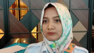 Sekretaris Desk Pilkada Banten Partai Gerindra, Tati Nurcahyana, saat ditemui di kantornya di Serang, Banten, Jumat, 15 November 2019.