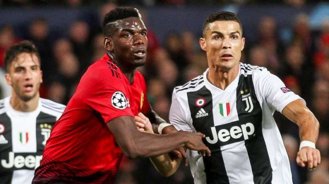 Paul Pogba (kiri) dan Cristiano Ronaldo (kanan)