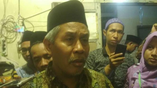 Ketua Nahdlatul Ulama Jawa Timur, Marzuki Mustamar, usai peresmian gedung tetenger Markas Besae Oelama di Waru, Kabupaten Sidoarjo, Jawa Timur, pada Sabtu malam, 16 November 2019.