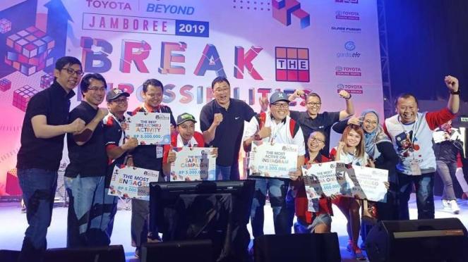 Kumpul komunitas di acara Toyota Jamboree 2019 di Ancol, Minggu 17 November 2019