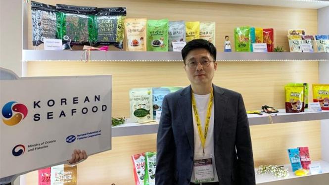Lee Dong Jun, Managing Director SUHYUP di SIAL Interfood 2019, Jakarta