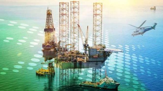 Ilustrasi kilang minyak Aramco