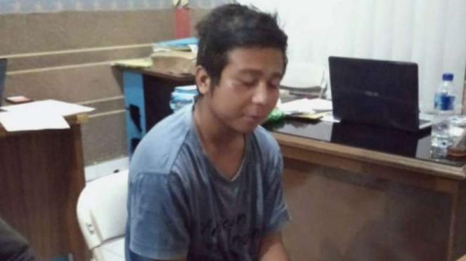 Polisi tangkap pelempar sperma di Tasikmalaya.