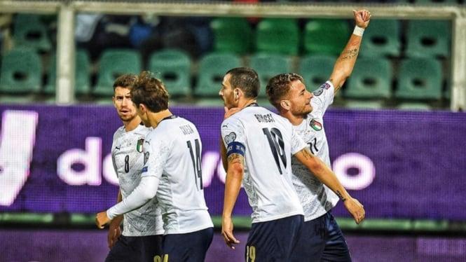 Selebrasi para pemain Timnas Italia