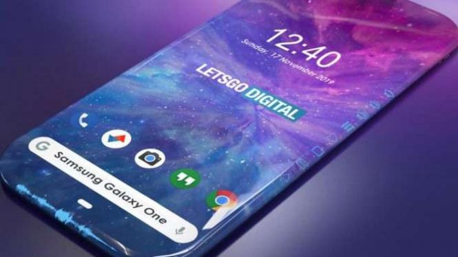 Desain ponsel Samsung yang dibuat LestGoDigital