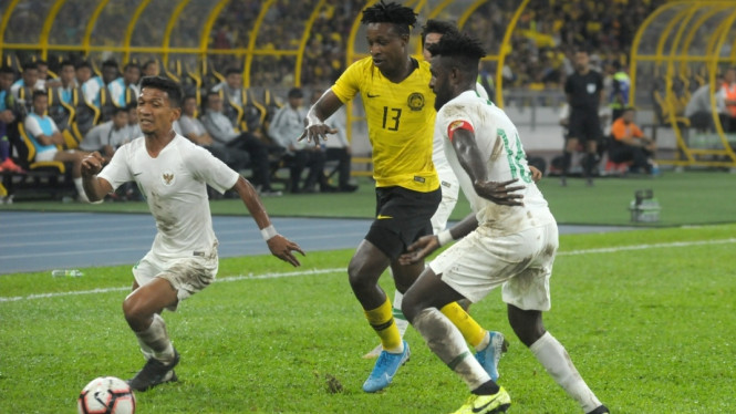 Duel Timnas Malaysia vs Indonesia di Stadion Bukit Jalil.