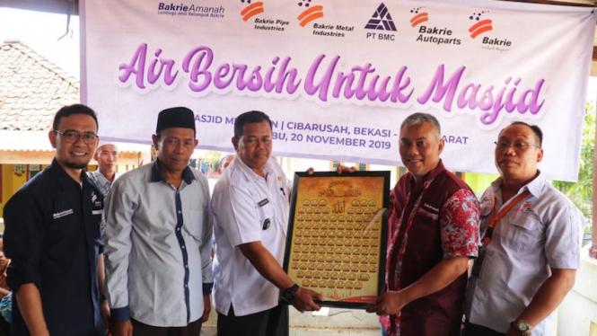 Program Air Bersih untuk Masjid dari Bakrie Amanah.