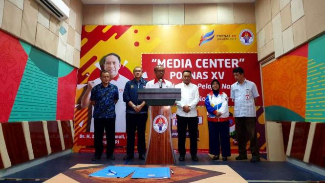 Konferensi pers Kemenpora