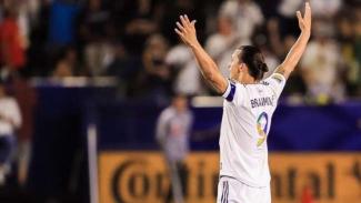 Zlatan Ibrahimovic saat masih membela Los Angeles Galaxy