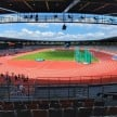 Suasana stadion atletik New Clark City Filipina