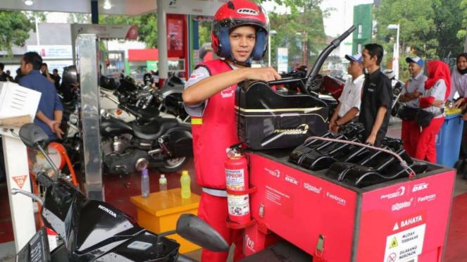 Pertamina MOR III memperluas layanan pesan antar BBM dan LPG