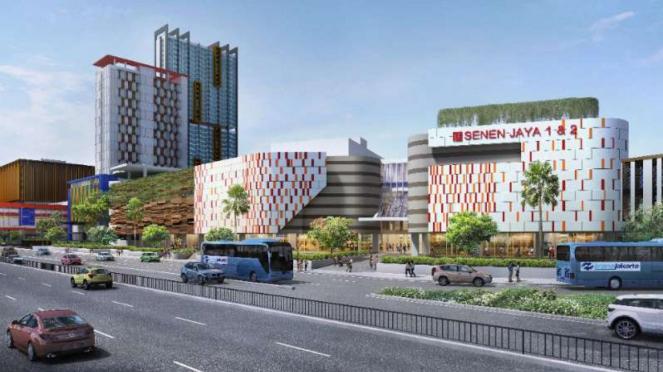 Gambar rencana pembangunan kembali Pasar Senen, Jakarta Pusat.