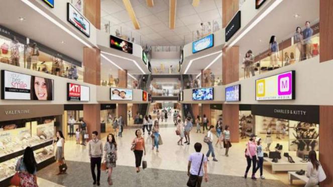 Gambar rencana pembangunan Pasar Senen, Jakarta Pusat.