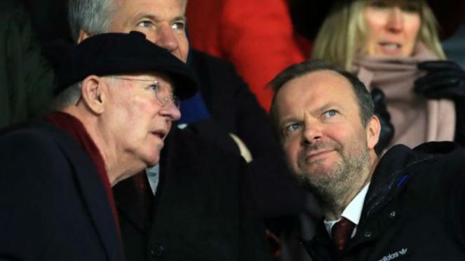 Manajer legendaris MU, Sir Alex Ferguson, saat datang ke Bramall Lane