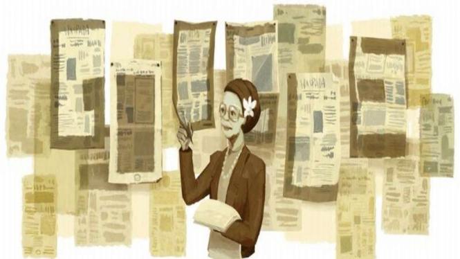 Google Doodle untuk merayakan ulangtahun Ani Idrus