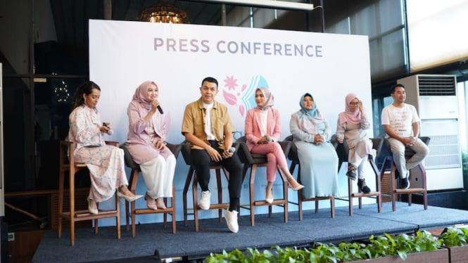 Press Conference Wardah Inspiring Movement di Jakarta, 22 November 2019.