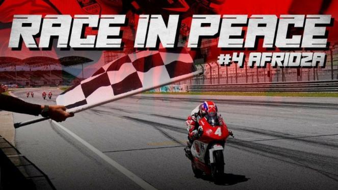 Apresiasi Honda untuk mendiang pembalap Afridza Syah Munawar